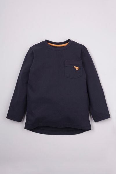 Navy Dino Embroidered T-shirt