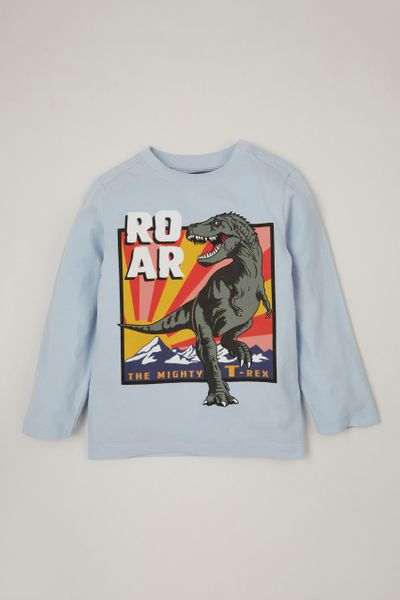 Blue Dinosaur Roar T-shirt