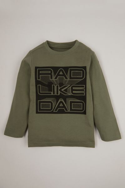 Khaki Rad Like Dad Print T-shirt