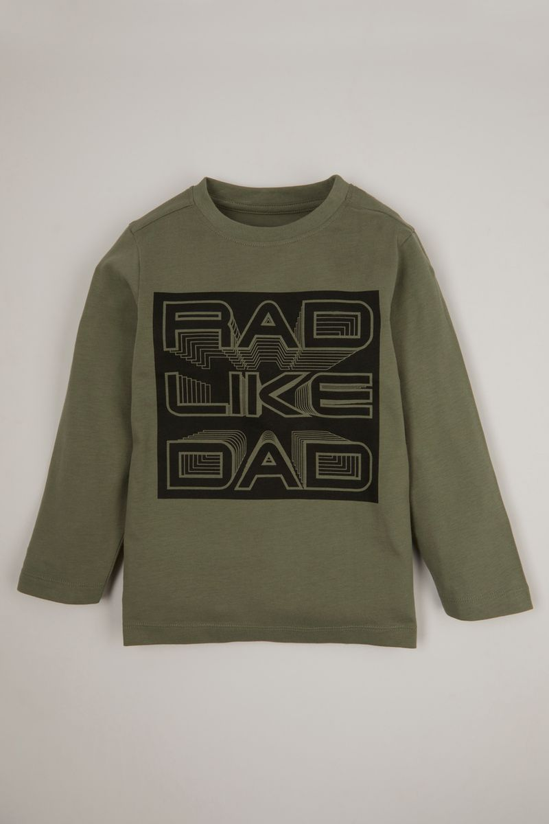 Khaki Rad Like Dad Print T-shirt