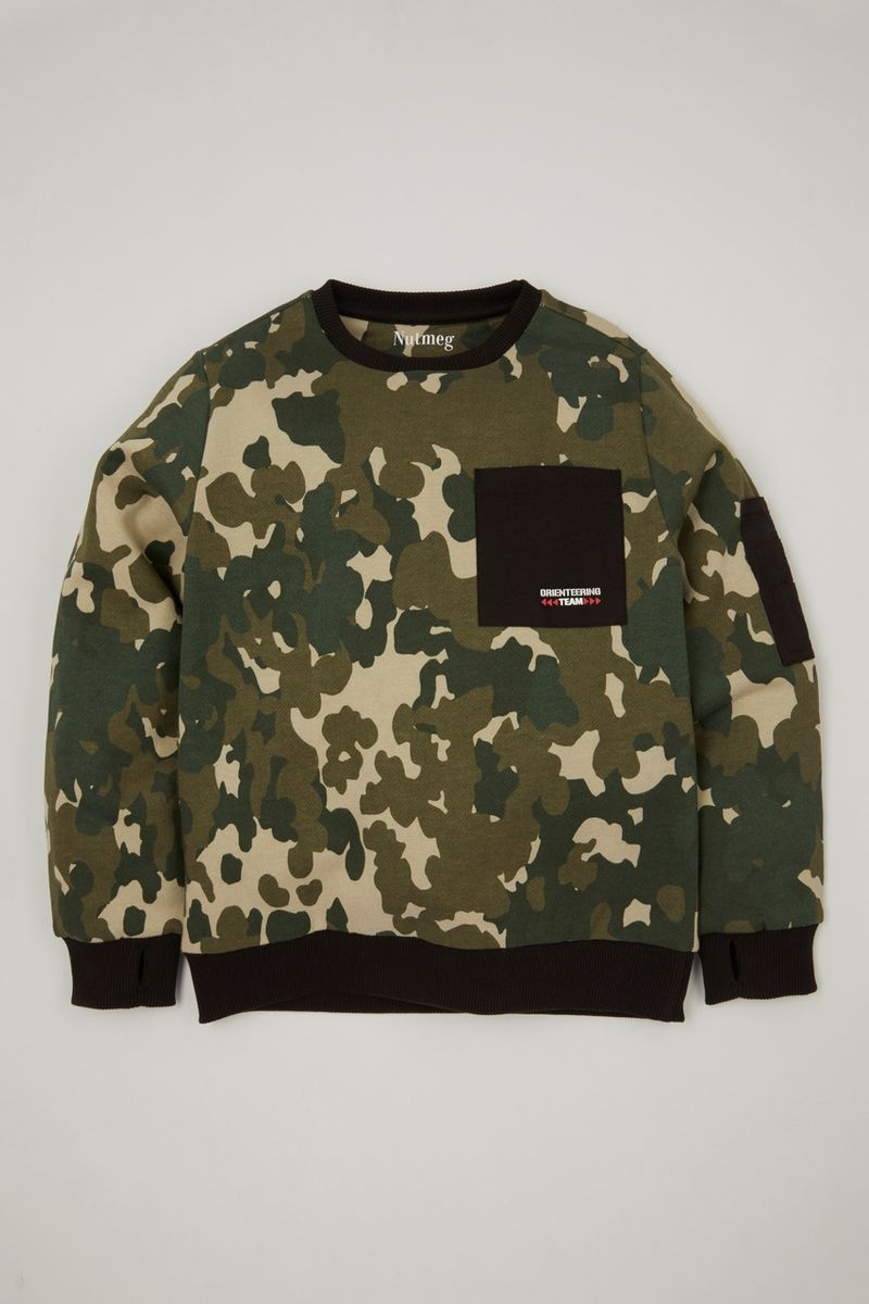 Utility Camo Pocket Sweatshirt