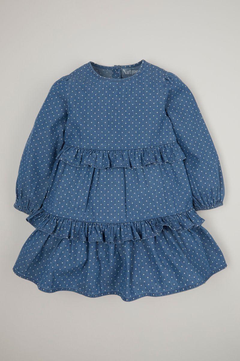 Spot Print Denim dress