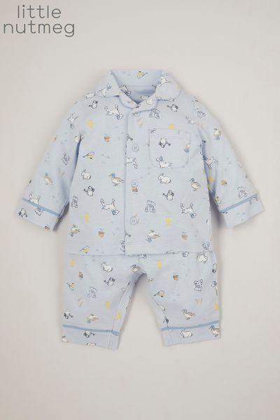 Little Nutmeg Blue Woven pyjamas