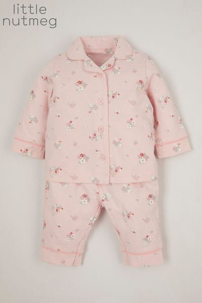 Little Nutmeg Flower Woven pyjamas