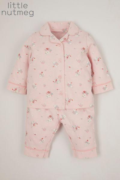 Little Nutmeg Flower Woven pyjamas