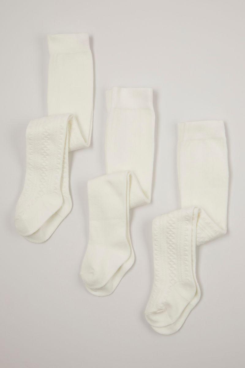 3 pack cream anti-bobble tights
