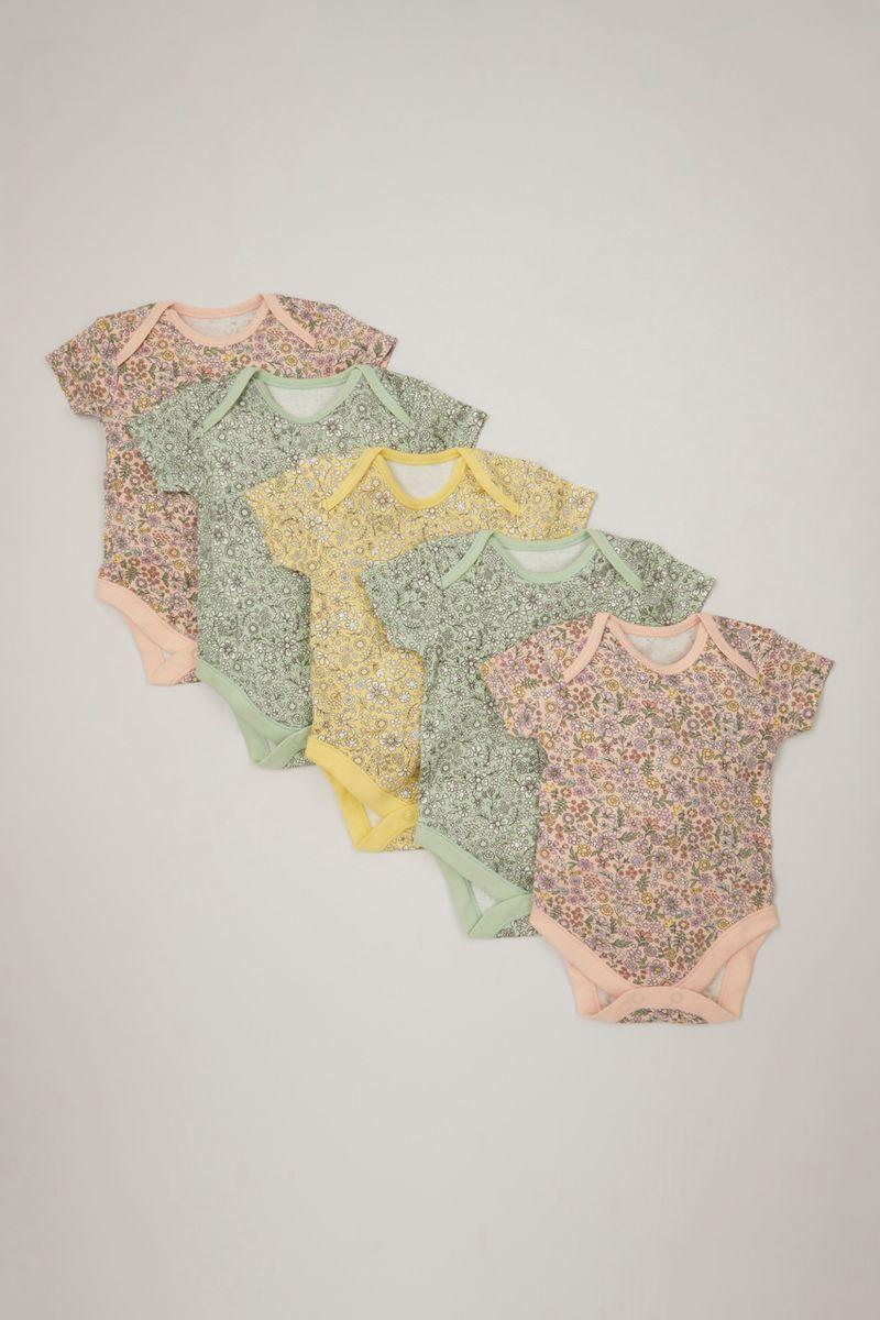 5 Pack Pastel Flower bodysuits