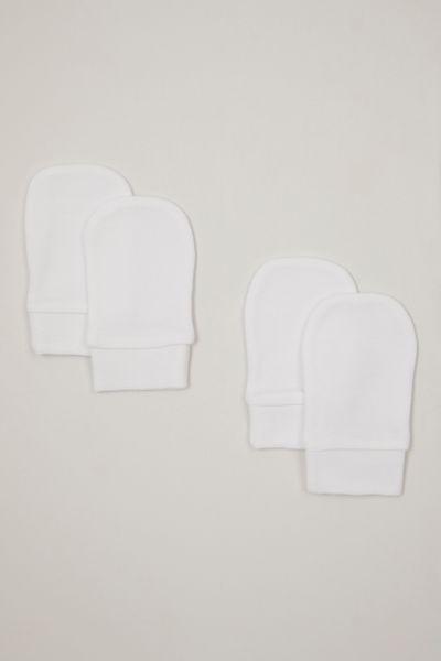 2 Pack White Scratch mittens