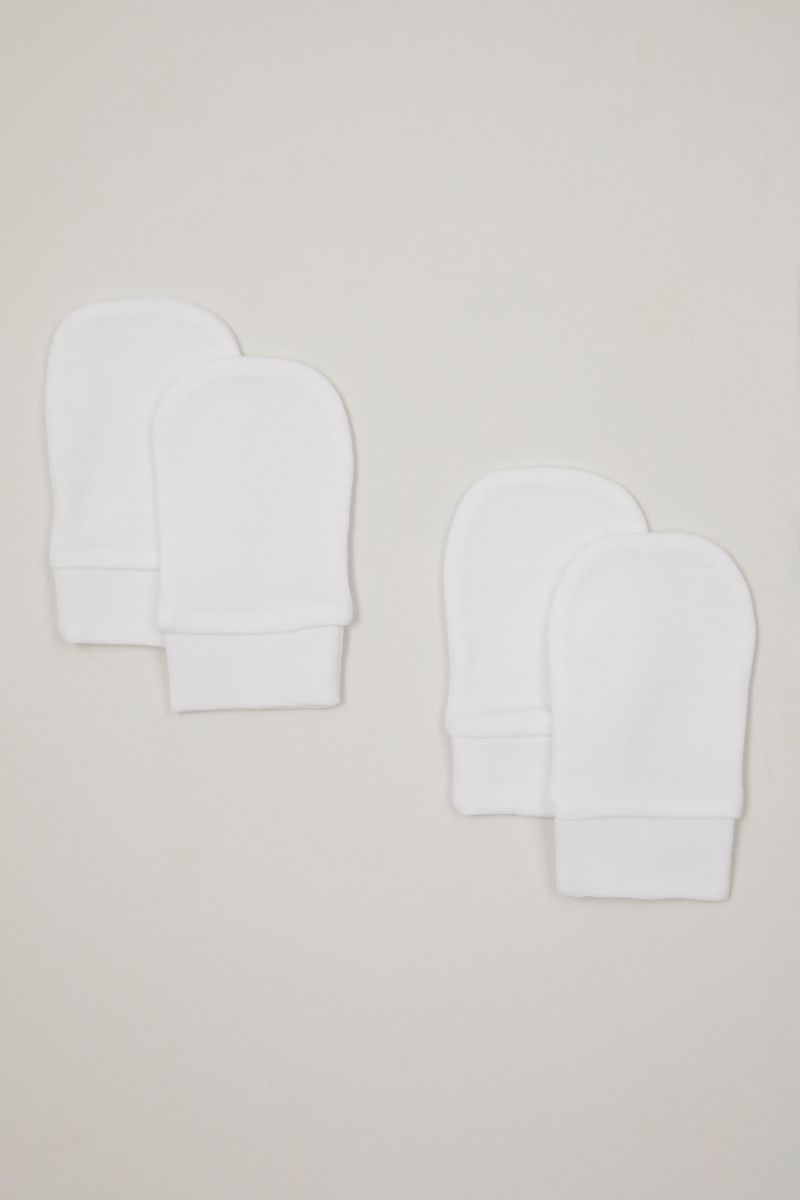 2 Pack White Scratch mitts