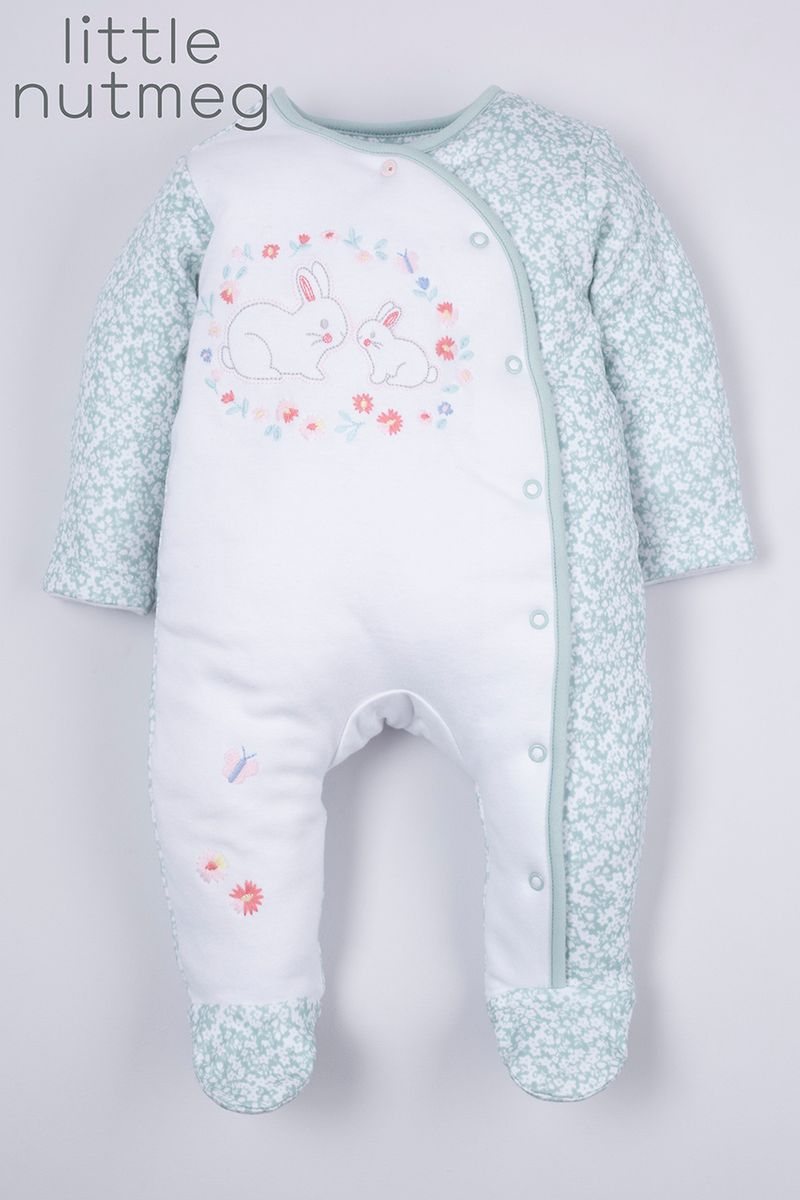 Little Nutmeg 2.0 Tog Flower sleepsuit