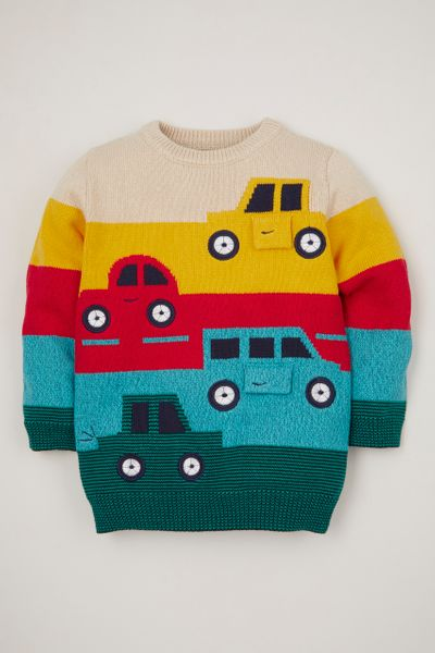 Car Stripe Knit Jumper