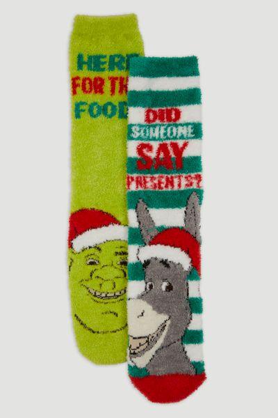 2 Pack Shrek Cosy Socks