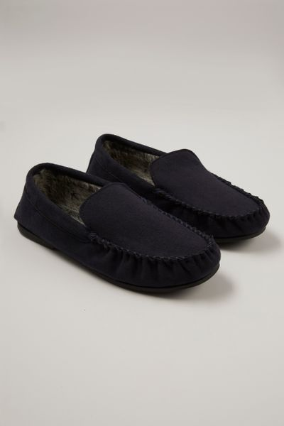 Navy Moccasins