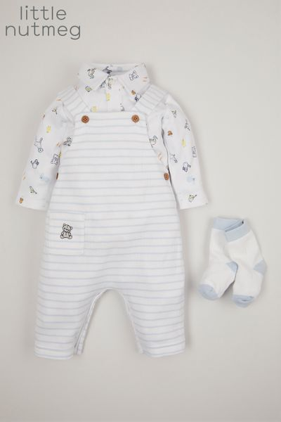 Little Nutmeg 3 Piece Dungaree set