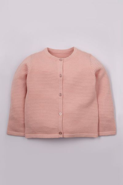 Pink Knitted cardigan 1-10yrs