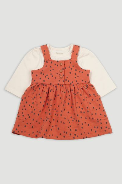 Spot Jersey Pinafore Dress set