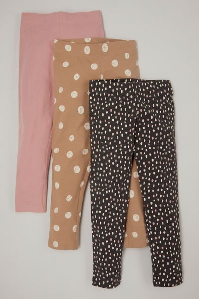 3 Pack Spotty leggings