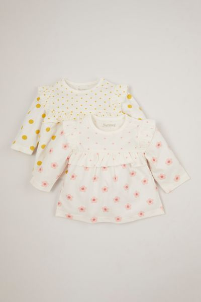 2 Pack Spotty Smock T-shirts