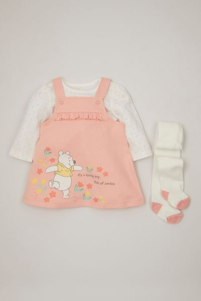 Disney Winnie the Pooh 3 Piece Pinafore Dress Set