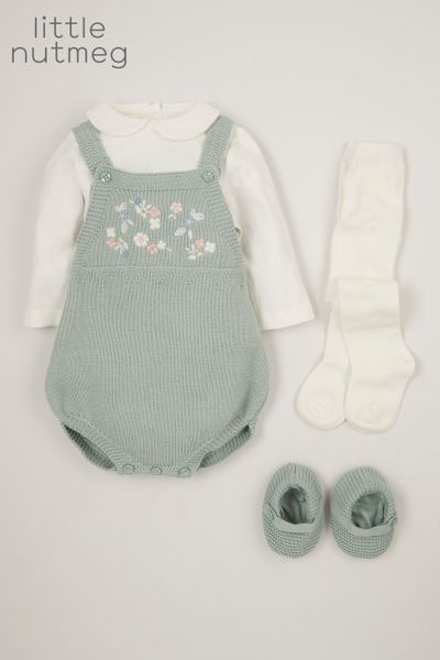Little Nutmeg Knitted Romper set