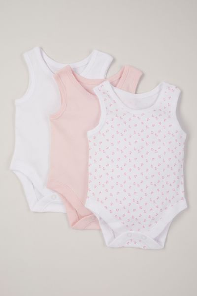 3 pack pink sleeveless bodysuits