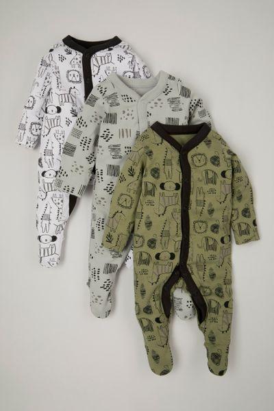 3 Pack Crocodile sleepsuits