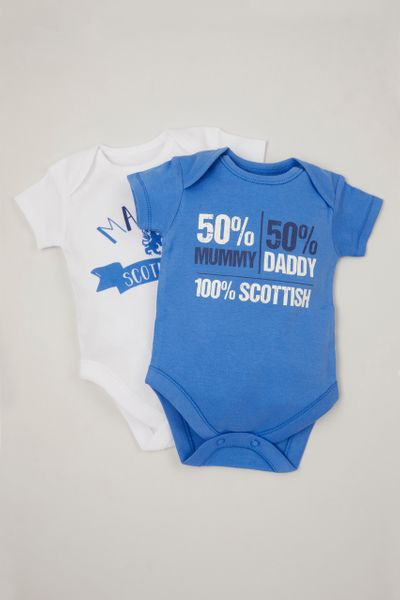 2 Pack Made in Scotland bodysuits