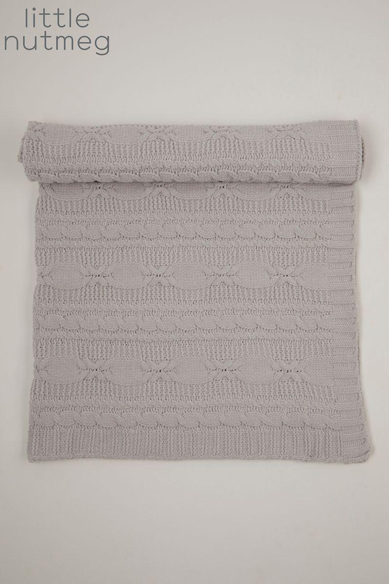 Little Nutmeg Grey Chenille blanket