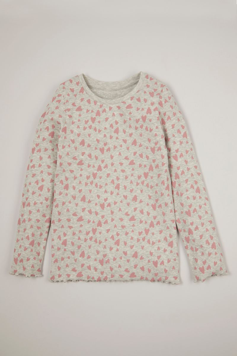 Heart Long Sleeve T-Shirt 3-14yrs