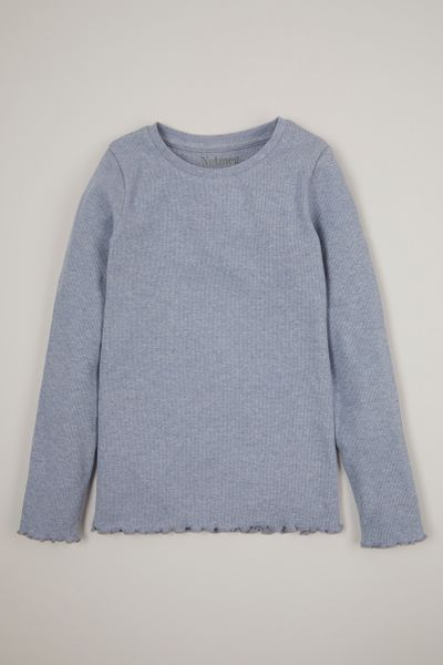 Blue Marl Long Sleeve T-shirt 3-14yrs