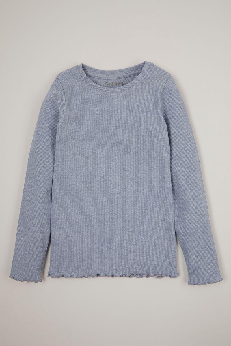 Blue Marl Long Sleeve T-shirt 3-14yrs