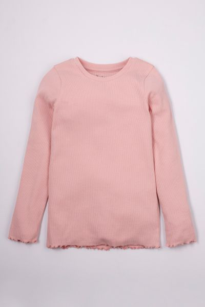 Blush Pink Long Sleeve T-shirt 3-14yrs
