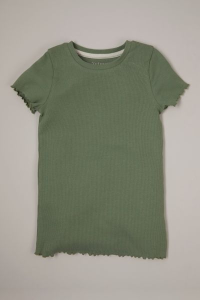 Khaki Ribbed T-shirt 3-14yrs