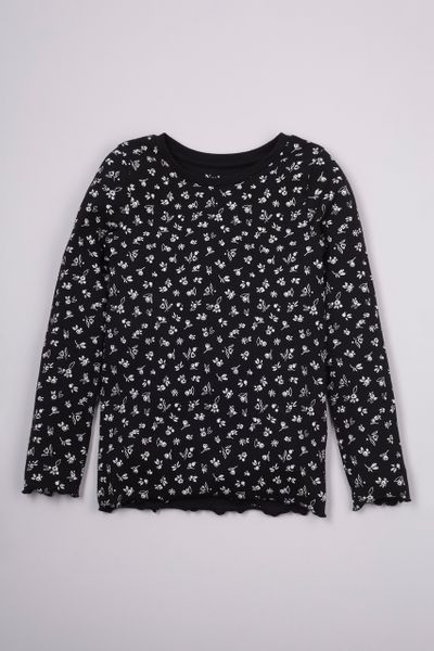 Flower Rib Long Sleeve T-Shirt 3-14yrs
