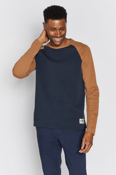 Navy & Ochre Raglan top