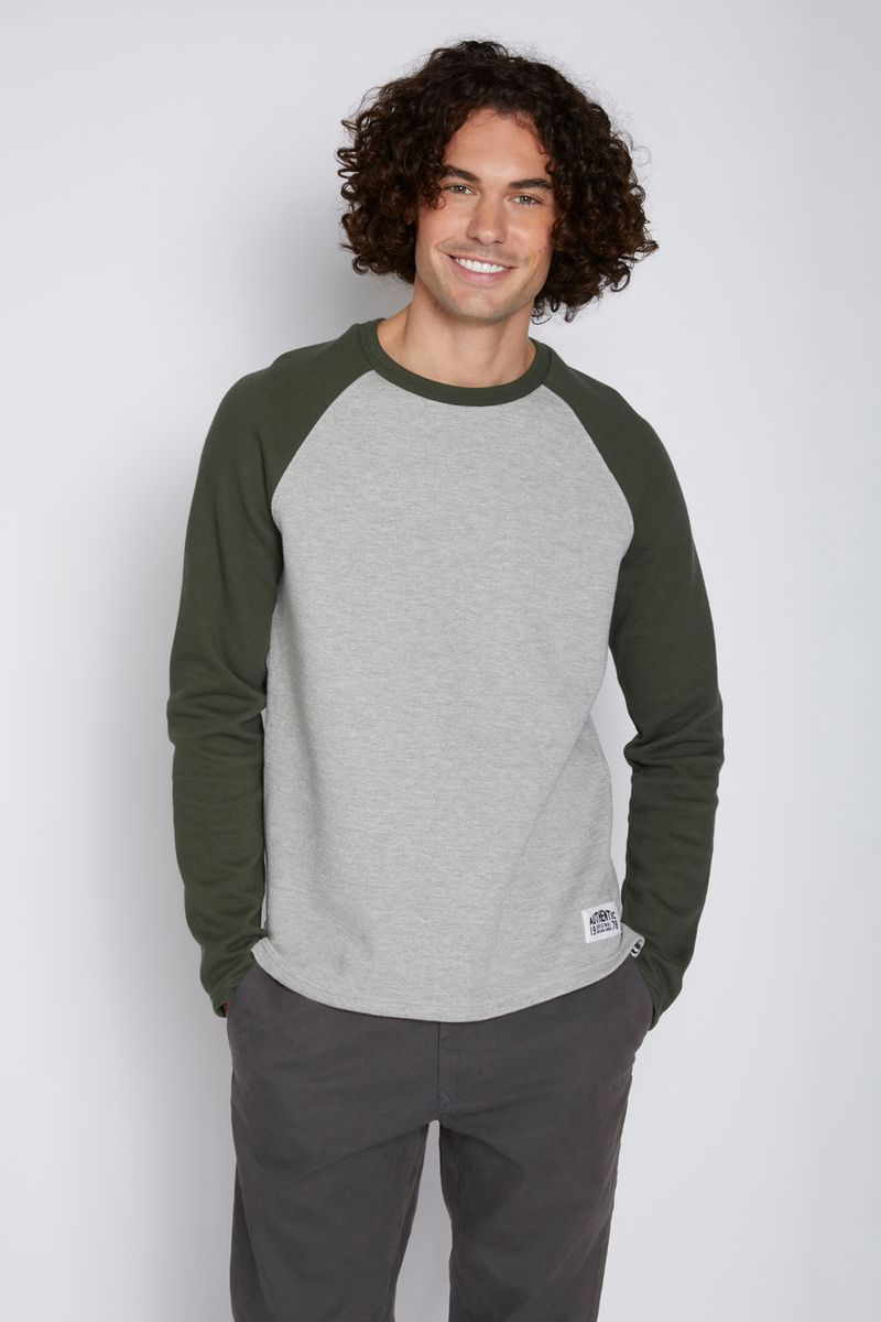 Grey & Green Raglan top