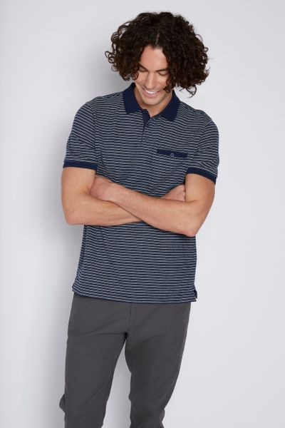 Navy Stripe Polo shirt