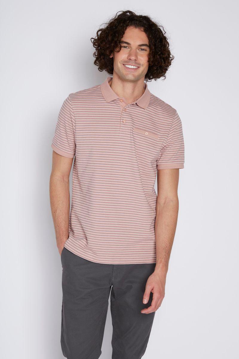 Rose Stripe Polo Shirt