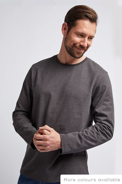 Grey Marl Long Sleeve T-Shirt