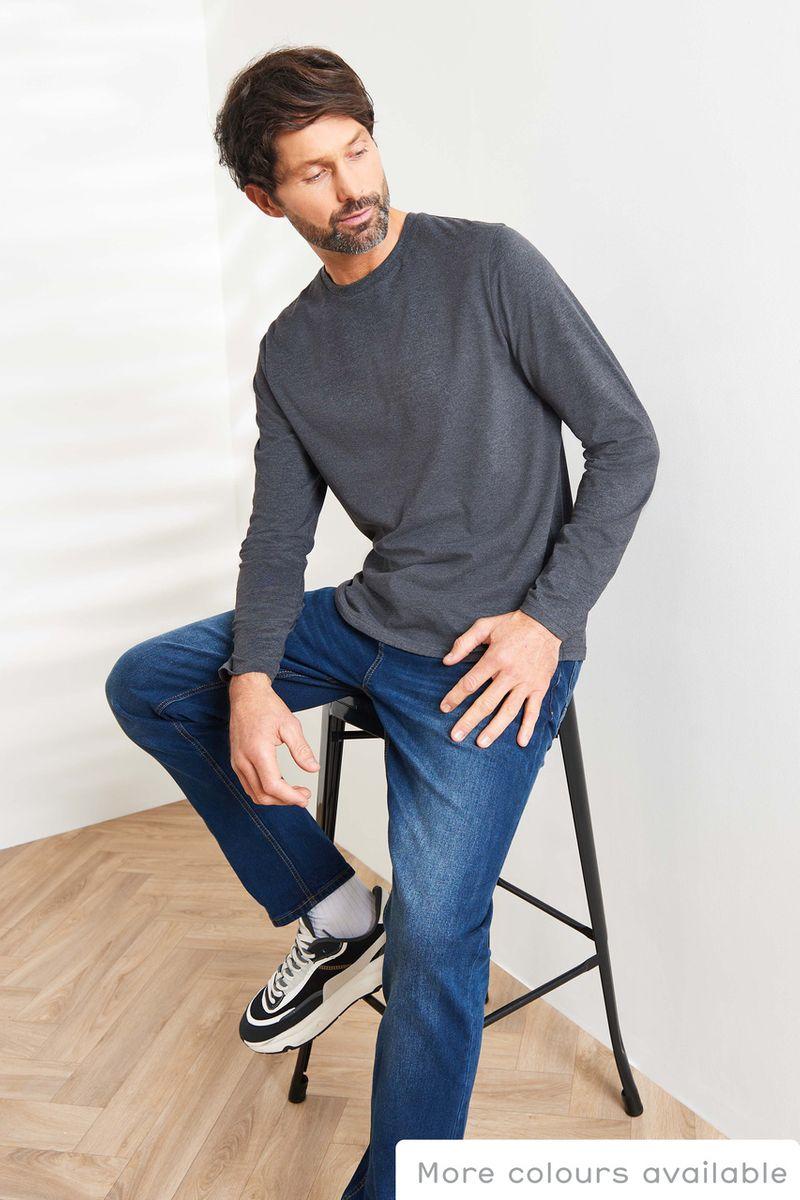 Grey Marl Long Sleeve T-Shirt