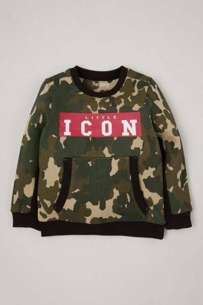 Little Icon Camo Sweatshirt