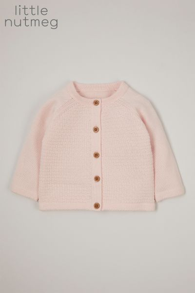 Little Nutmeg Online Exclusive Pink Cardigan