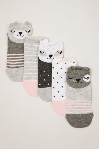 5 Pack Mono Animal Socks