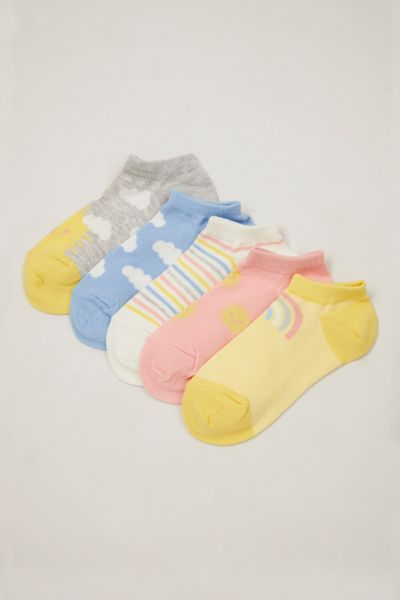 5 Pack Sunshine Trainer Socks