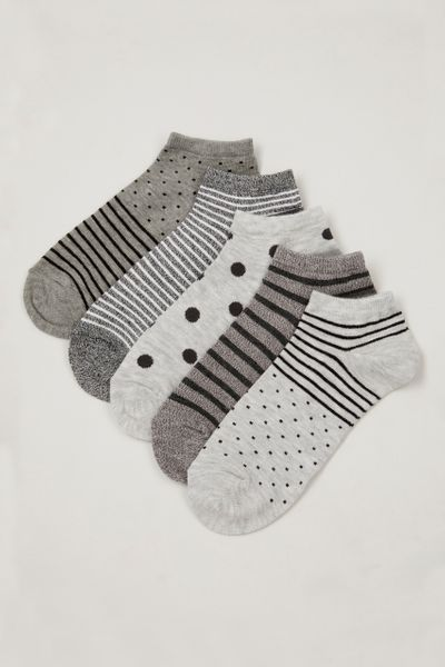 5 Pack Spot Stripe Trainer Liners