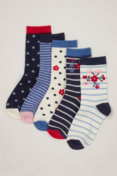 5 Pack Poppy Socks