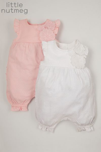 Little Nutmeg Online Exclusive 2 Pack Corsage Rompers