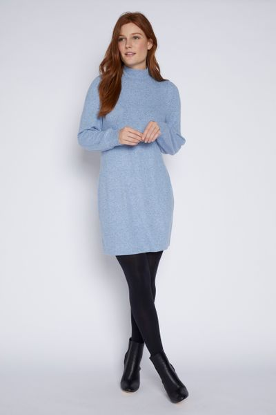 Blue Turtleneck Dress
