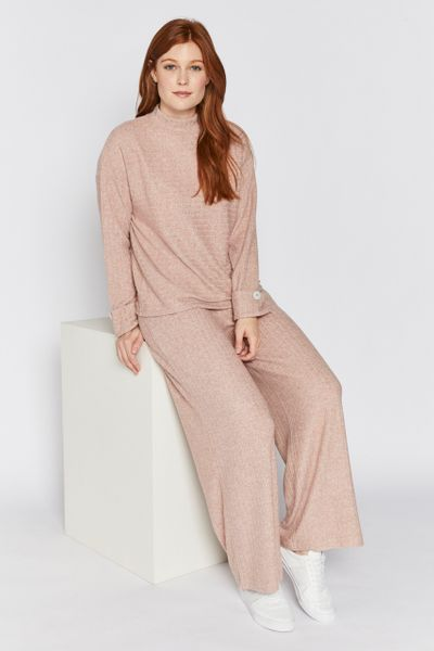 Pink Rib Turtleneck Jumper