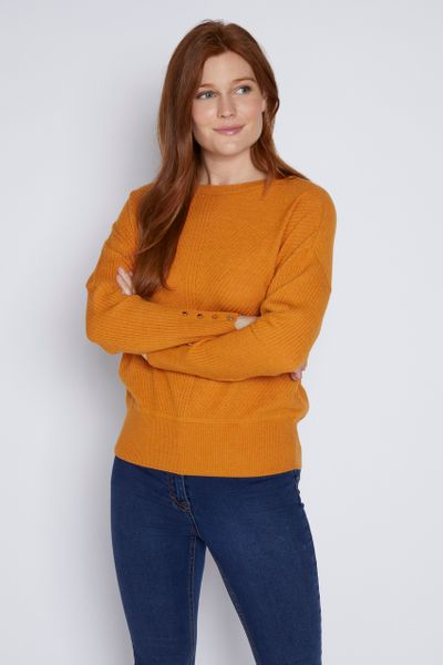 Ochre Button Sleeve Jumper